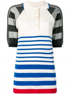 Рубашка-поло в полоску Sonia Rykiel. Цвет: белый