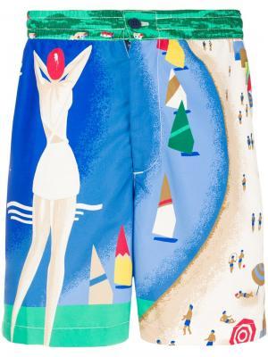 Пляжные шорты с принтом Polo Ralph Lauren. Цвет: разноцветный