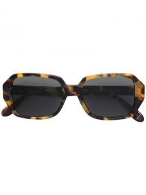 Square sunglasses Retrosuperfuture. Цвет: коричневый