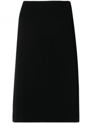 Классическая юбка с высокой талией Aspesi. Цвет: черный