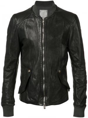 Куртка-бомбер Guidi. Цвет: черный