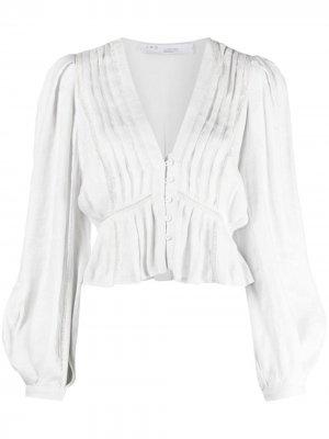 Блузка Chira со складками IRO. Цвет: серый