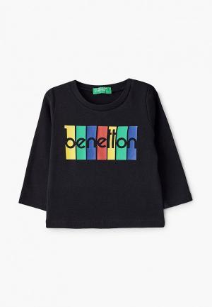 Лонгслив United Colors of Benetton. Цвет: черный