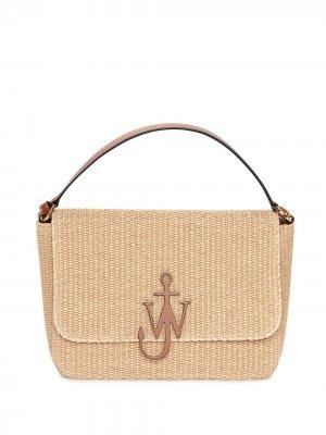 Плетеная сумка с логотипом Anchor JW Anderson. Цвет: нейтральные цвета