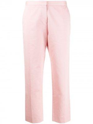 Укороченные брюки прямого кроя Marni. Цвет: розовый