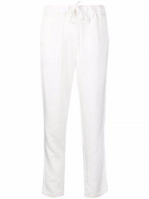 Атласные брюки Papiro прямого кроя Blanca Vita. Цвет: белый