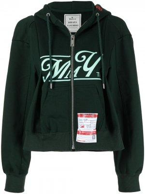 Куртка с капюшоном и логотипом Maison Mihara Yasuhiro. Цвет: зеленый