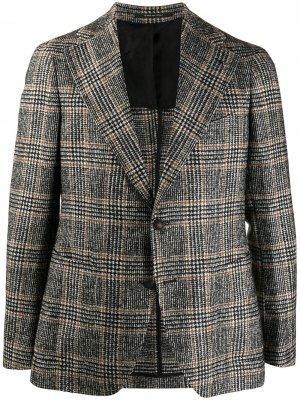 Клетчатый пиджак Tagliatore. Цвет: черный