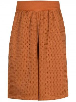 Спортивные шорты с эластичным поясом adidas. Цвет: оранжевый