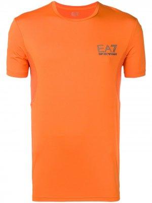 Базовая футболка Ea7 Emporio Armani. Цвет: желтый