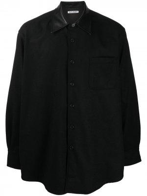 Комбинированная рубашка Our Legacy. Цвет: черный
