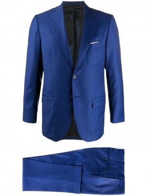 Костюм с однобортным пиджаком Kiton. Цвет: синий