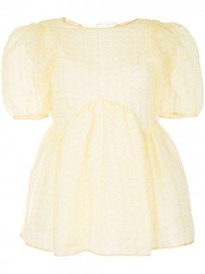Блузка с объемными рукавами Cecilie Bahnsen. Цвет: желтый