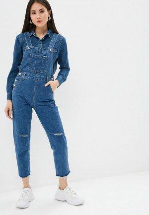 Комбинезон джинсовый Pink Frost. Цвет: синий