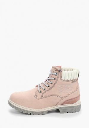 Ботинки Crosby. Цвет: розовый