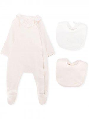 Пижамный комплект с логотипом Chloé Kids. Цвет: нейтральные цвета
