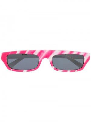 Солнцезащитные очки Brushstroke Moschino Eyewear. Цвет: розовый