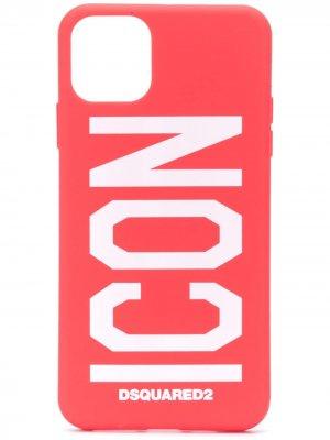 Чехол для iPhone 11 Pro Max с принтом Icon Dsquared2. Цвет: красный