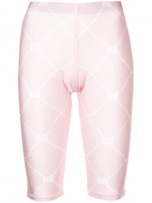 Велосипедные шорты с принтом логотипа Barbara Bologna. Цвет: розовый
