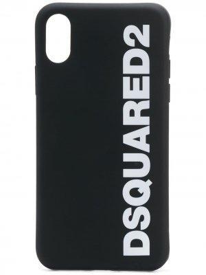 Чехол для iPhone X с логотипом Dsquared2. Цвет: черный