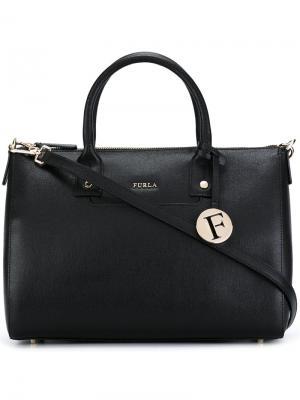 Маленькая сумка-тоут Furla. Цвет: чёрный