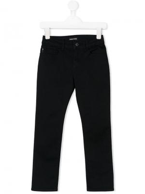 Прямые джинсы Emporio Armani Kids. Цвет: синий