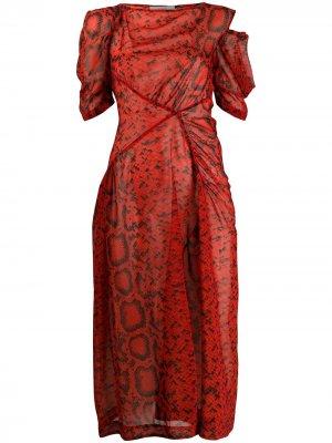 Платье Franny Preen By Thornton Bregazzi. Цвет: красный