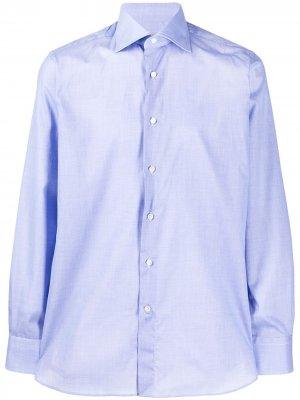 Рубашка с косым воротником Canali. Цвет: синий