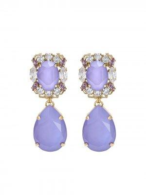 Серьги-подвески Michelle с кристаллами Anton Heunis. Цвет: фиолетовый