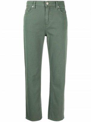 Укороченные брюки прямого кроя Department 5. Цвет: зеленый