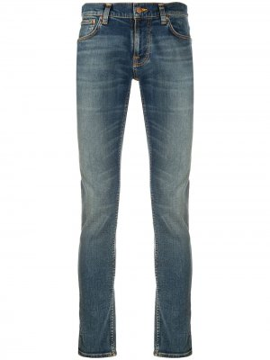 Узкие джинсы Terry Nudie Jeans. Цвет: синий