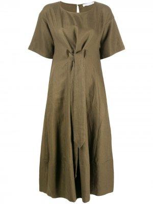 Платье-трапеция длины миди Société Anonyme. Цвет: зеленый