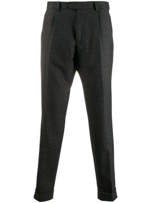 Узкие брюки строгого кроя Z Zegna. Цвет: серый