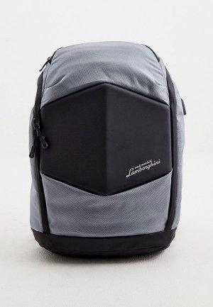 Рюкзак Automobili Lamborghini. Цвет: серый
