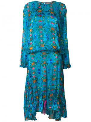 Платье Mai Preen By Thornton Bregazzi. Цвет: синий