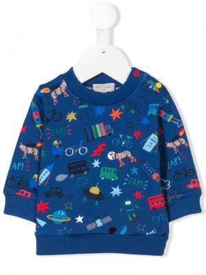 Character print sweater Paul Smith Junior. Цвет: синий