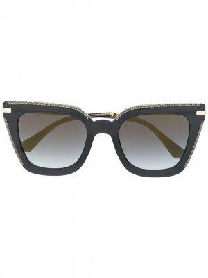 Солнцезащитные очки Ciara в оправе кошачий глаз Jimmy Choo Eyewear. Цвет: черный