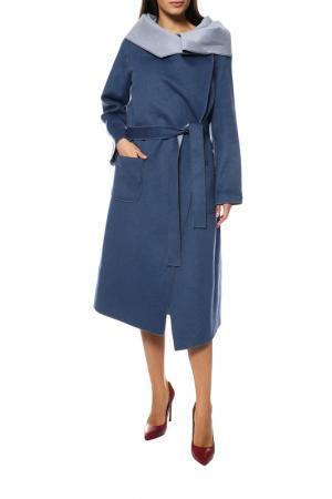 Пальто Анора. Цвет: сине-голубой