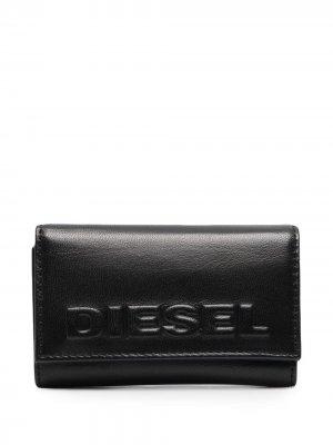 Ключница с тисненым логотипом Diesel. Цвет: черный