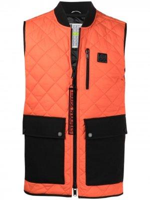 Стеганый жилет с карманами Moose Knuckles. Цвет: оранжевый