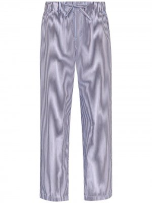 Пижамные брюки с кулиской TEKLA. Цвет: синий