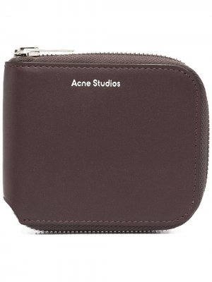 Компактный бумажник Acne Studios. Цвет: коричневый