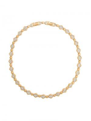 1980s crystal necklace Nina Ricci Vintage. Цвет: металлик