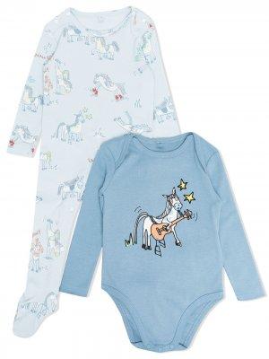 Комплект для новорожденного с принтом Stella McCartney Kids. Цвет: синий
