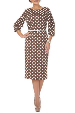 Платье Argent. Цвет: коричневый