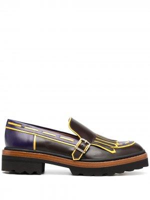 Туфли дерби с пряжкой Fratelli Rossetti. Цвет: фиолетовый