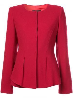 Пиджак с закругленным краем Emporio Armani. Цвет: красный