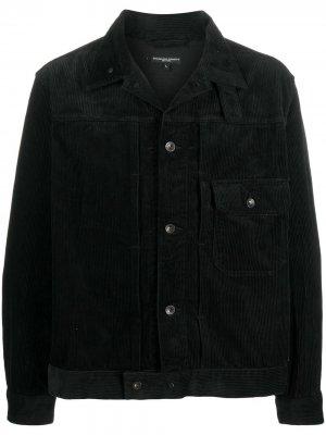 Вельветовая куртка-рубашка Engineered Garments. Цвет: черный