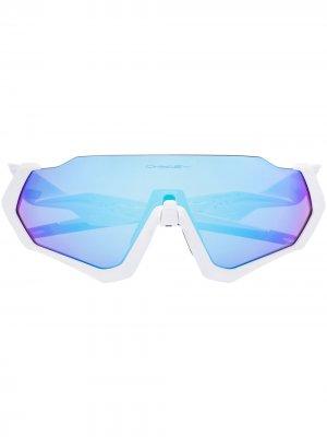 Солнцезащитные очки Flight Jacket Oakley. Цвет: синий