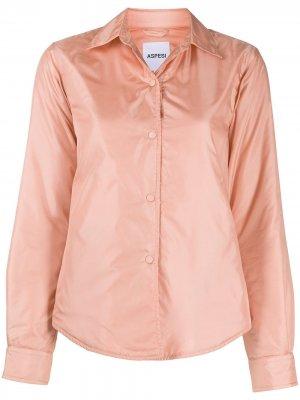 Приталенная рубашка с длинными рукавами Aspesi. Цвет: розовый